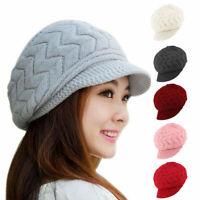 Women Winter Warm Knitting Beanie Hat Slouch Baggy Crochet Ski Visor Beret Cap