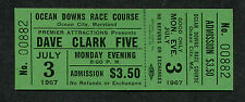 Original 1967 Dave Clark Five unused concert ticket Maryland Catch Us If You Can