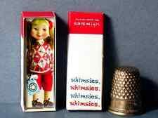 Dollhouse Miniature 1:12 Whimsies Tillie The Talker Doll Box dollhouse girl