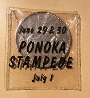 1962 Canada Silver Dollar in Ponkoa Stampede June 29 & 30 July 1 Holder Original