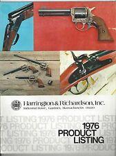 Harrington & Richardson Product Listing - 1976