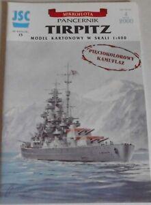Kartonmodellbaubogen Tirpitz