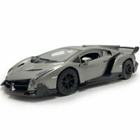 Lamborghini Veneno Supercar 1:24 Model Car Diecast Vehicle Collection Gift Grey