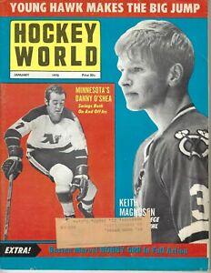 1970 Hockey World magazine Keith Magnuson Chicago Blackhawks O'Shea Minnesota GD