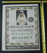 Sinead O'Connor 2005 Concert Ad w/ Sly and Robbie Webster Hall NYC