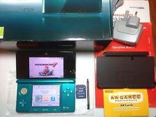 Nintendo 3DS [Firmware Ver.3.0.0-6E]  Aqua Blue Handheld System