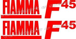 2 X FIAMMA F45  CARAVAN/MOTORHOME  DECALS STICKERS CHOICE OF COLOURS #006