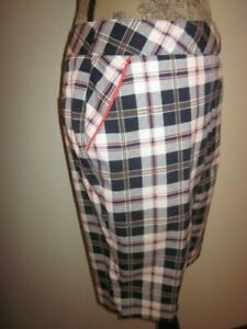 Bette & Court Plaid Checked Golf Shorts Bermuda with Pockets Size 6