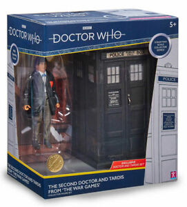Official BBC Second 2nd Dr Doctor Who Action Figure & Tardis Set Collectable toy