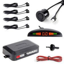 4 Parking Sensors LED Display Car Reverse Backup Radar Kit + Sound Alert Monitor