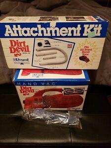 90s Royal Dirt Devil HAND VAC Handheld Vacuum in Box Model 103 Attachments 192