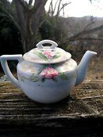 Vintage Tea Rose Pink Red Bouquet JAPAN Teapot Japanese Sake Porcelain 5/8❤️ts8j