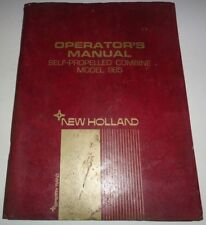 *New Holland 985 Self Propelled Combine Operators Owners Troubleshooting Manual