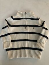 Ralph Lauren Polo Baby Boys 1/4 Zip Sweater Size 2T