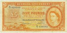 Bermuda 5 Pounds 1952 (rare date)  Pick 21a   VF