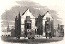 Harrow School. London, antique print, 1862