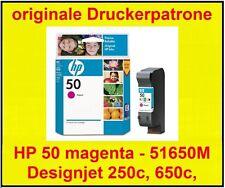 orig. Patronen HP 50 M * magenta 51650 * Designjet 250c, 650c, 650ps * MHD 2009