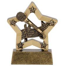 Microphone singing Karaoke Trophy.Prefect Schools Awards*Free Engraving*.