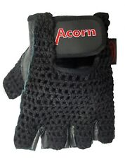 Acorn/Airdale Padded Cycling Gloves Fingerless Black Large - OFFER: 2 PAIRS