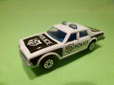MAJORETTE 240 CHEVROLET IMPALA - POLICE - WHITE + BLACK 1:69 - GOOD CONDITION
