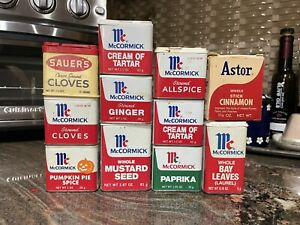 Vintage Used Lot of 10 Vintage Spice Tins Astor Sauer McCormick 1 Astor Box