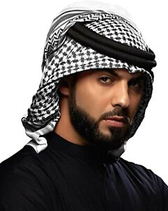 Arafat Arab Arabian Scarf Shawl Keffiyeh Kafiya Shemagh Desret Palestine + Igal