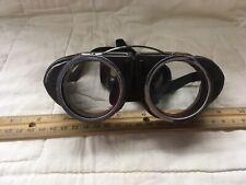 Antique WILLSON Kover Mor Goggles Safety Glasses Vtg Retro Welding Old Steampunk