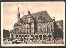 Bremen Rathaus – Town Hall 1914 COLLOTYPE Photographie J. Becker UNUSED