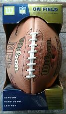 WILSON NFL Ufficiale in pelle Hand Sewn CALCIO commissario Tagliabue in Scatola