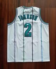 Larry Johnson Autographed Signed Jersey Charlotte Hornets JSA