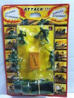 "Dulcop 2"" Toy Soldiers WWII SUPPLIES DETACHMENT Playset MOC Vintage 70's"