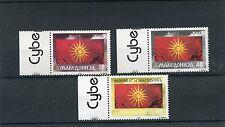 Macedonia 1993 serie bandiera macedone 4-6 MNH