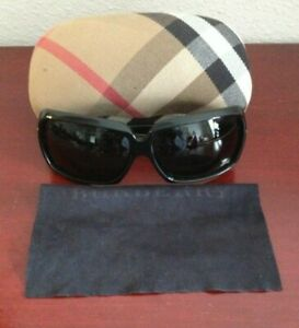 BURBERRY B 4014 3001/87 64O13 120 BLACK SILVER SUNGLASSES. ITALY.GREAT CONDITION