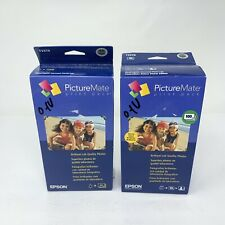 Pack of 2 Genuine Epson PictureMate T5570 Ink Cartridge 100 Sheets Photo Paper
