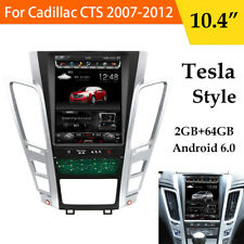 "10.4"" 2+64GB Tesla Style Full Screen Car Radio GPS System For Cadillac CTS 07-12"
