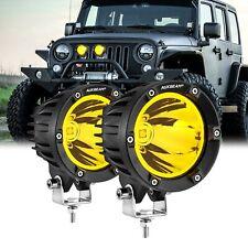 """AUXBEAM 4"""" LED Work Light Amber Spot Fog Driving Lights for Jeep Wrangler JK TJ"""