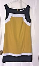 M&S Size 12, Womens Dress,Yellow,White & Black,Lined - Occasion,Tea,Sun