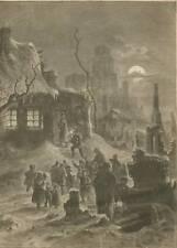 Weihnachten in Johanngeorgenstadt.Holzstich 1880