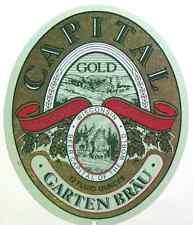 Garten Brau  CAPITAL GOLD  beer label WI 12oz