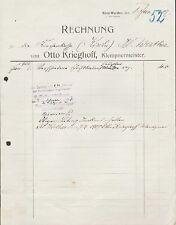 Klein-Werther, factura 1907, perdía Otto Krieghoff