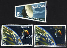 1970 Malaysia Satellite Earth Station 3v Stamps Mint NH
