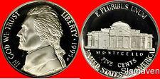 1995 S Jefferson Nickel Deep Cameo Gem Proof No Reserve