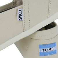TOMS CLASSIC CANVAS NATURAL AUTHENTIC SLIP ON WOMENS US SIZE 6.5