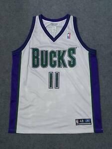 NBA Milwaukee Bucks T. J. Ford #11 Reebok Authentic Jersey Size 48