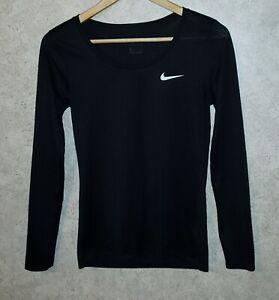 NIKE Dri-Fit  Long Sleeve Scoop Neck Athletic Shirt Women's Sz S / Small