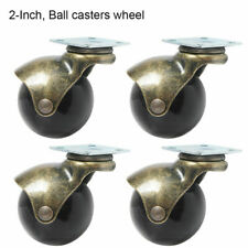 Set Of 4 2 Inch Heavy Duty Swivel Ball Caster Wheels With 360 Degree Top Plate