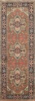 "Geometric Traditional Oriental Runner Rug Wool Hand-knotted 2' 7""x7' 10"" Carpet"