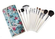 Professional Cosmetic Brush Kit W Floral Travel Pouch (12Pc) Missing One Brush