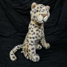 """Amazing Rare Vtg 16"""" Leopard Plush ☆ Rushton Company Toy ☆ Large Cheetah Jaguar"""