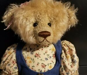 MAC POHLEN MOHAIR BEAR FULLY JOINTED WITH DRESS 18 INCHES